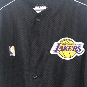 e6a90a1b8 Majestic Shirts - Lakers button up Jersey made of 100% polyester